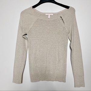 Victoria Secret Beige Shoulder Clasps Sweater